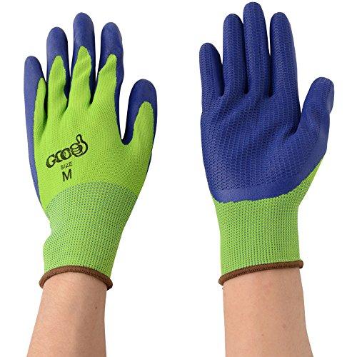 丸五 グッドラバー#1800 ライムグリーン/ブルー L GDRB1800-L/BL-L 天然ゴム背抜き手袋