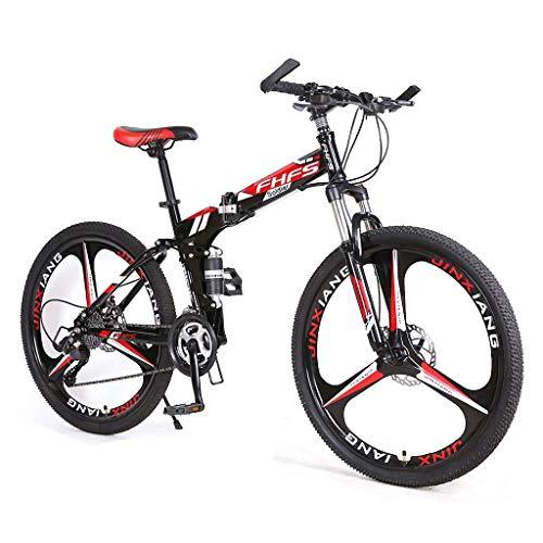 Bicicleta para la montaña para adultos, ruedas de 24 pulgadas, bicicleta de montaña Bicicleta de altura de altura de carbono Bicicletas que se plegan, 21/24/27-velocidad Bicicleta de la bicicleta MTB