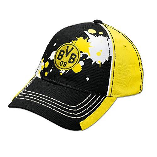 BVB Kinder Kappe Farbkleckse, schwarz/weiß/gelb, One size, 2466622