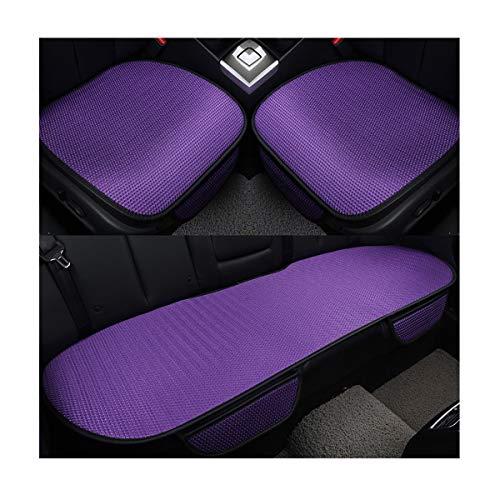 HotYou Auto-Sitzkissen, Sommer-Auto-Sitz-Kissen-einzelne Auflage-EIS-Seide-Quadrat-Auflage Backless Universal Anti-Rutsch-freies, das Sitz-Kissen bindet, Lila, Vordersitz * 1 Pic