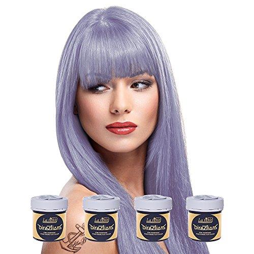 4 x La Riche Directions Semi-Permenant Hair Colour Dye Box Of Four-Wisteria (dir)