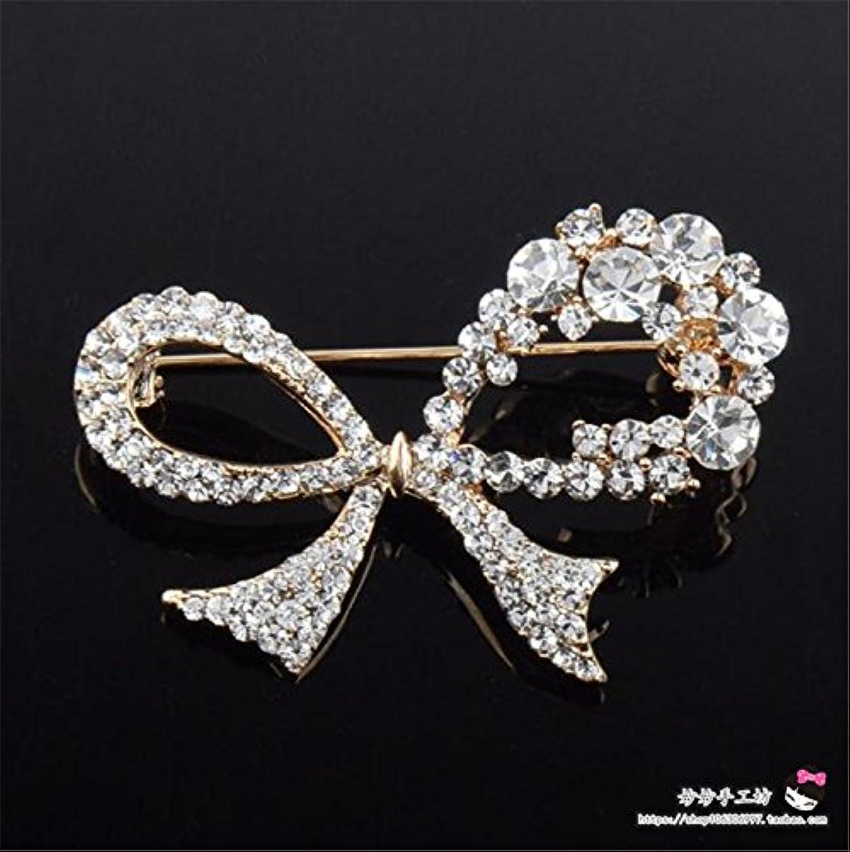 Crystal Bow Brooch pin Badge Diamond Jewelry Brooch pin Badge Wedding Dress Brooch pin Badge Jewelry Upscale