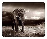 Kundengebundene Mausunterlage Oblong Desktop Mousepad Trauriger Elefant-Qualitäts-Rechteck Nicht