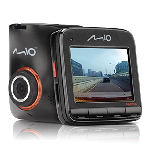 Mio MiVue videocamera voor auto met F2.0 objectief, 140 graden groothoeklens, G-sensor met 3 assen en fotomodus, MiVue 518, zwart