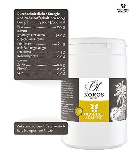 Ölmühle Solling Kokosöl nativ im PE-Becher, 1er Pack (1 x 1 l) – Bio - 2
