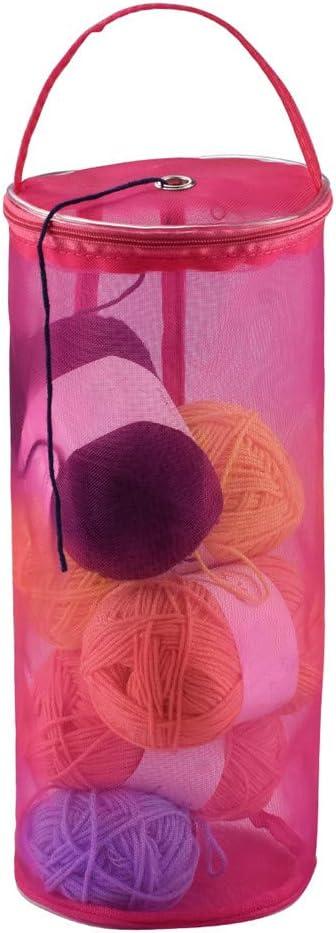 Bombing new work Katech Yarn Storage Bag Round Nippon regular agency Portable Mesh Case Empty Knit