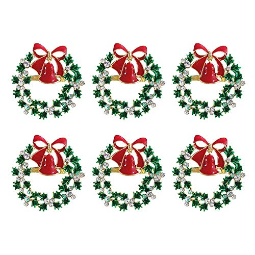 TaoToa Christmas Napkin Rings Set of 6,Napkin for Wedding, Thanksgiving Day, Family Gatherings, Birthday and Dinner Party