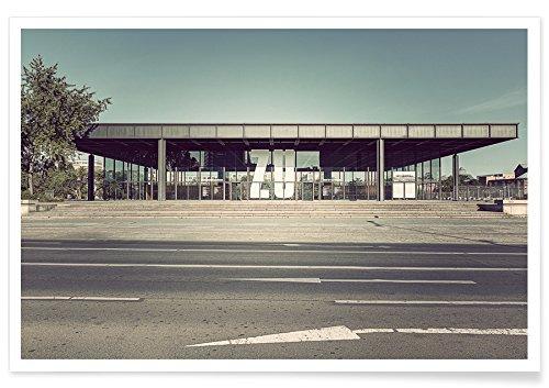 "JUNIQE® Berlin Poster 60x90cm - Design ""Neue Nationalgalerie"" entworfen von Michael Belhadi"