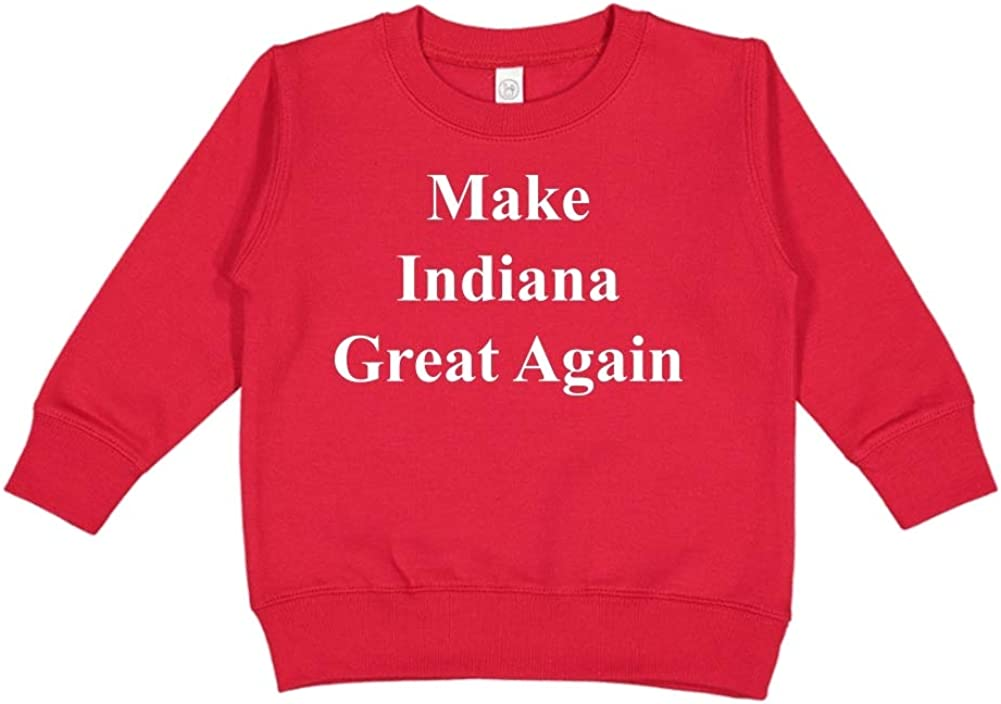 Mashed Clothing Make Indiana Great Again MAGA Trump Republican Toddler//Kids Sweatshirt