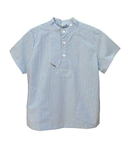 AS Bekleidungswerk GmbH Modas Sommer Kinder Fischerhemd Kurzarm, Größe:134, Farbe:Azur/weiß
