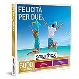 smartbox - Cofanetto Regalo Felicità per Due - Idea Regalo per la Coppia - Una degustazione o Una Pausa Relax o un'attività Fitness per 2 Persone