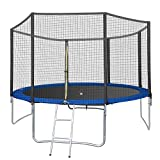 Little Joyce 12 FT Indoor Outdoor Trampoline for Kids Adults with Enclosure Net