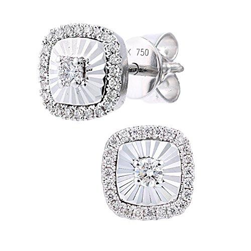 Naava Damen-Ohrhänger 18 Karat 750 Weißgold Rundschliff weiß Diamant