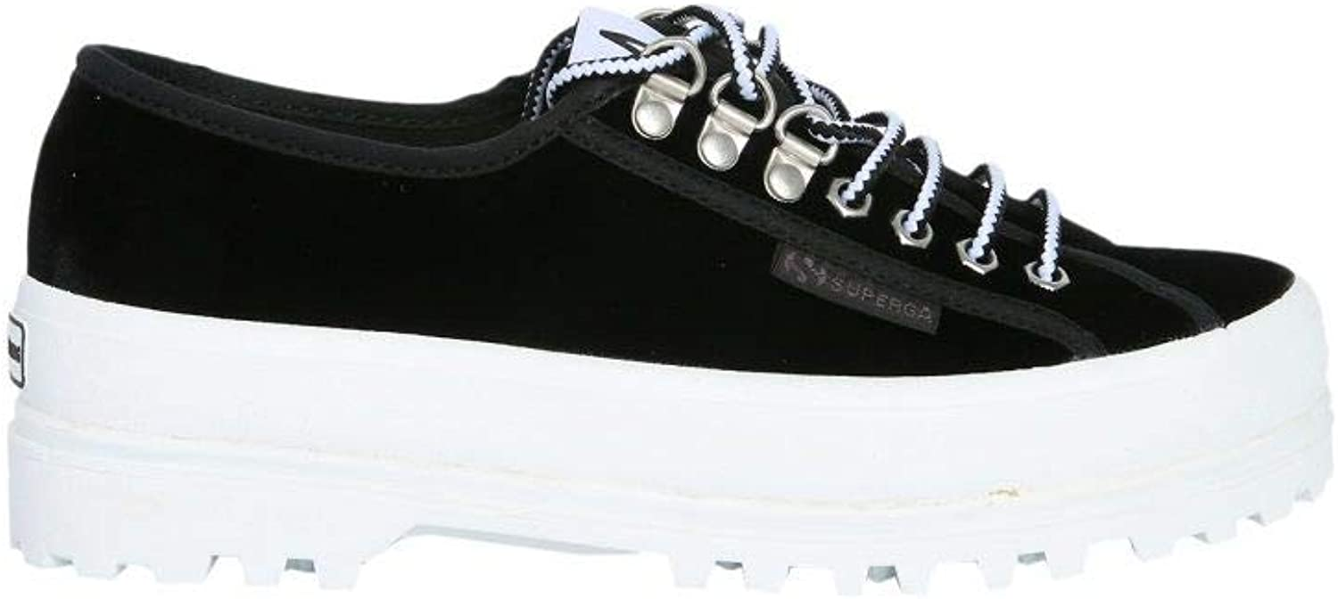 SUPERGA X ALEXA CHUNG Women's S00ECT02748909 Black Viscose Sneakers