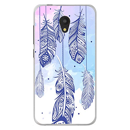 BJJ SHOP Transparent Hülle für [ Alcatel One Touch U5 3G ], Klar Flexible Silikonhülle, Design: Dreamcatcher mehrfarbiger Steigungshintergrund v3