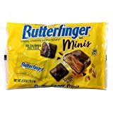 (1) Bag Ferrara Butterfinger Minis Candy Bars Crispety, Crunchety, Peanut-Buttery Halloween Candy Approx. 7 individually wrapped candy bars per bag Net Wt. 2.8 oz / 79.3 g