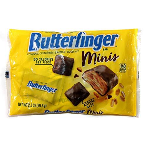 Ferrara (1) Bag Butterfinger Minis Candy Bars - Crispety, Crunchety, Peanut-Buttery Candy - Net Wt. 2.8 oz