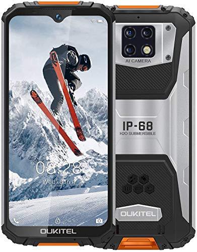 OUKITEL WP6 Outdoor Handy Ohne Vertrag (2021), 10000 MAH Akku 18 W Schnellladung, Helio P70 6 GB + 128 GB, 6,3 Zoll FHD + IP68 Robustes, 48 MP Quad-Kamera, Fingerprint ID/Dual SIM/GPS Smartphone
