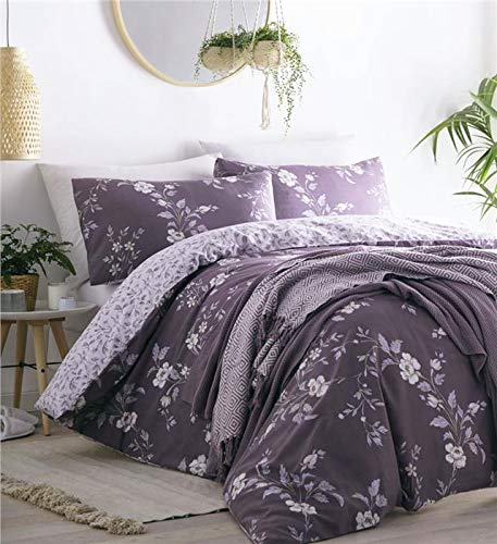 Homemaker Country cottage bedding pretty quilt cover & pillow cases set (King)