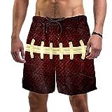 Swim Trunks Homme Rugby Vintage Short De Bain Garçons Maillot De Bain Séchage Rapide Short De Plage Taille Elastique Swim Shorts pour Surf Plage Baignade L