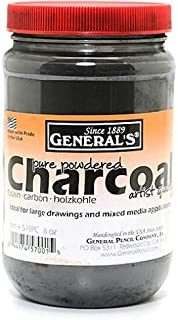 General'S Powdered Charcoal - Product Description - General'S Powdered Charcoal- Size: 6 Oz.Pure Powdered Artist Quality Charcoal Used By Sign Writers, Artists, Draftsmen, And Engineers. Excellent For Snap Lines And Pounce Transfer As Well As Ba ...