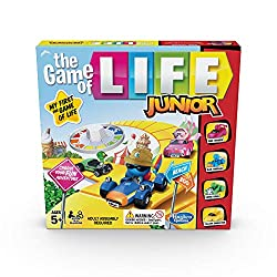 The game of life junior is fun for kids Easy to set up and play Players perform fun, simple actions Features 3-D car movers
