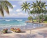 N-L Pintura por números para Adultos Pintura Digital Decoración de Pared para el hogar Decoraciones para el hogar Pintura Digital acrílica para niños Adultos - Vista de la Playa
