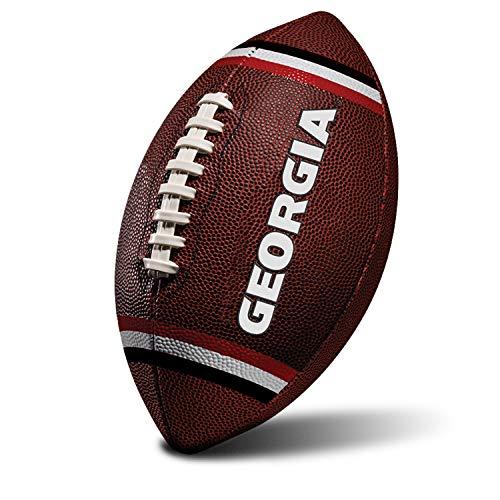 Franklin Sports NCAA Georgia Bulldogs Kids Youth Football - Official College Team Football with Team Logos - Junior Size Football