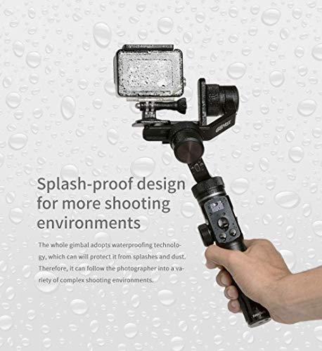 FeiyuTech G6 MAX All-in-one Gimbal Stabilisator 3-Achsen Handheld universal für Handy Smartphone, Sony RX100 A6300 A6400 A6500 Mirrorless DSLM Kamera und Actionkamera Gopro 6/7/8, Sony RX0(Neueste)