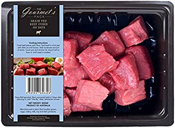 The Gourmet's Pack Grain Fed Beef Cubes, 300g - Chilled