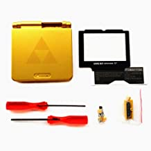 RGRS Replacement Zelda Triforce Full Housing Shell Case Repair Parts Kit w/Lens & Screwdriver for Nintendo Gameboy Advance SP GBA SP Console…