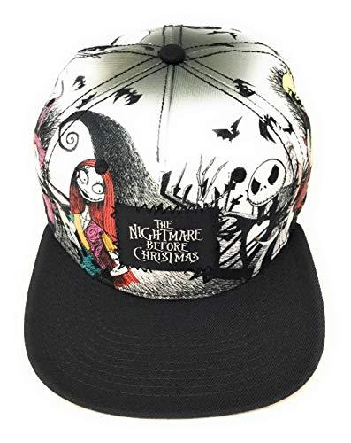 Disney Nightmare Before Christmas Snapback Cap Baseball Hat Sally Jack Skellington