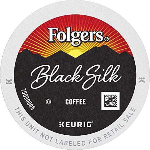 Folgers Black Silk Dark Roast Coffee, 96 K Cups for Keurig Coffee Makers, Pack of 1