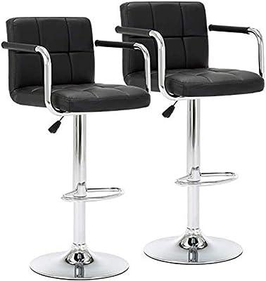 Terrific Amazon Com Bestoffice Counter Height Bar Stools Set Of 2 Pu Dailytribune Chair Design For Home Dailytribuneorg