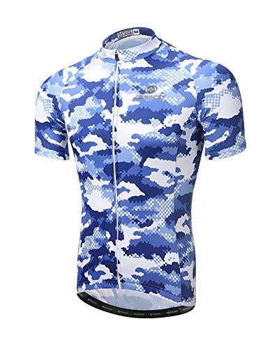YOUCAI Camisetas de Ciclismo de Camuflaje para Hombres Maillot Camisa de Bicicleta...