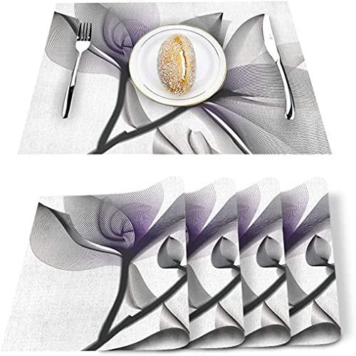Store Set de 4 Sets de Table, St. Patrick's Day Coins Shamrock Hat PVC Tapis de Table résistant à la Chaleur Tapis de Table de Cuisine Lavable antidérapant pour Table à Manger Table de Banquet de va