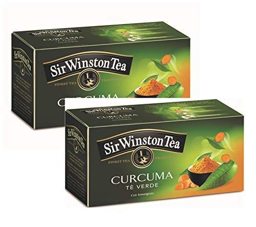 Sir Wiston Tea Tè Verde con Curcuma e Citronella - 2 x 20 Bustine di Tè (70 Grammi)