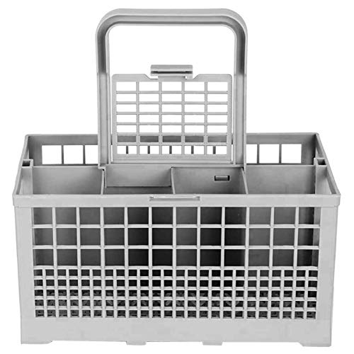 Universal Dishwasher Cutlery Basket, Replacement Dishwasher Basket Compatible with Kenmore, Whirlpool, Bosch, Maytag, KitchenAid, Maytag, Samsung, GE and more (Grey, 9.5' x 5.44'x 4.8')