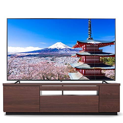【43-65型推奨】 アイリスオーヤマ テレビ台 テレビボード ローボード 幅150cm 奥行38cm 高さ41cm ダークウォールナット たっぷり収納 コードもすっきり収納 耐荷重30kg BTS-GD150UK