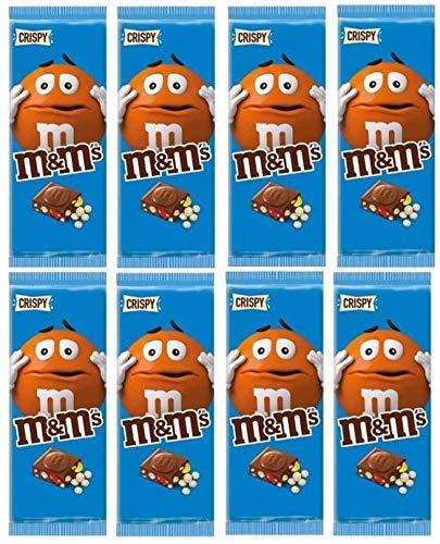 8 Tafeln M&M´s Tafelschokolade Crispy ( 8x 150g) Milchschokolade mit M&M´s minis