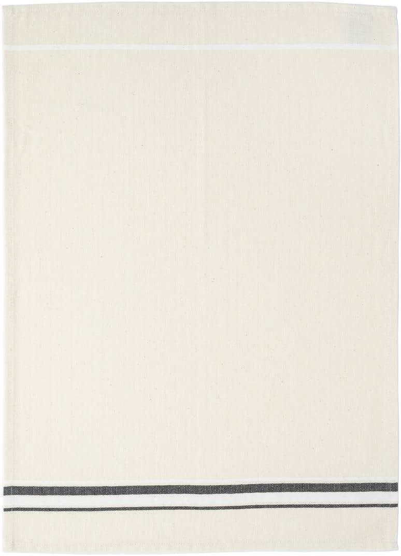 Casafina Set 2 Kitchen Towels French Stripes 100/% Cotton Aqua