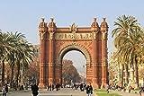 HQHff Arquitectura del Paisaje del Arco de Triunfo de Barcelona,1000 Piezas 75x50cm,Puzzles de Madera Adultos Regalo de Juguete Educativo para niños