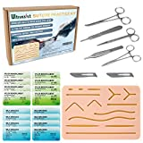 Complete Suture Kit, 2nd Generation Suture Practice Pad Kit, Includes Reusable Suture Pad with Built-in Mesh, Surgical Tools & Suture Needles for Residents & Med Dental Vet School Students (25pcs)