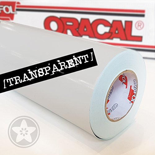 hauptsachebeklebt Oracal 621 Folien Set 000 - Transparent Klebefolie - 5m x 63cm - Orafol - Möbelfolie - Plotterfolie - Selbstklebend (Folien Set inkl. weichem Filzkantenrakel)
