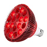 Red Light Therapy Lamp, Serfory 18 LEDs Infrared Light Bulb, 660nm Deep Red and 850nm Near Infrared Combo for Skin Health and Pain Relief