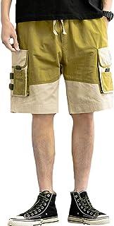 [CCHY]ショートパンツ 五分丈 短パン 綿 カーゴパンツ ハーフパンツ イージーパンツ ポケット ストリート メンズp2319