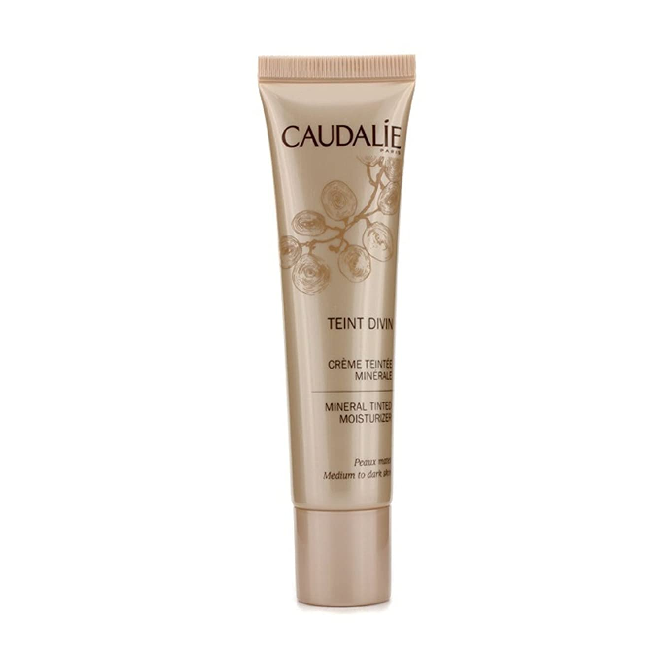 真実に知性トレイルCaudalie Teint Divin Tinted Moisturizer Medium To Dark Skin 30ml [並行輸入品]