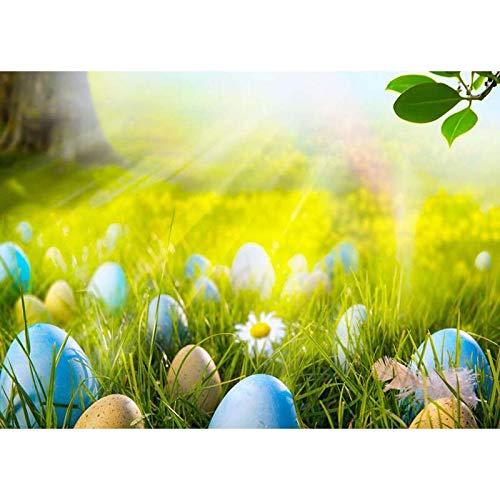 Frühlingsblumen Eier Holzbretter Baby Fotografie Hintergrund Baby Ostern Hintergrund für Fotografie Fotostudio Shooting A29 1,5 x 1 m