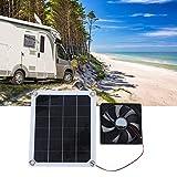 Ventilador de escape de panel solar portátil de 10 W para uso de carga de vehículos recreativos y habitaciones para mascotas al aire libre DC5V