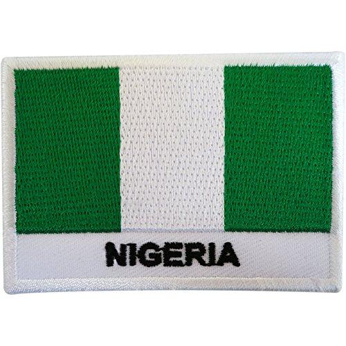 bestickt Nigeria Flagge Patch Badge Eisen Sew der T-Shirt Tasche West Afrika Abuja